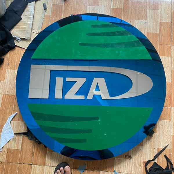 Logo inox xanh